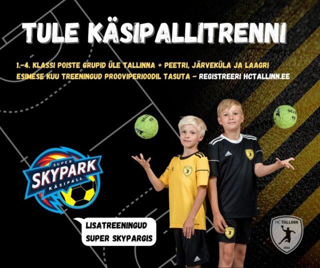 HC Tallinn pakub pealinnas ja lähivaldades 1.-4. klassi poiste käsipallitrenne!